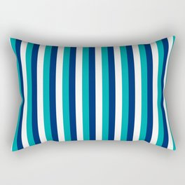 Team Colors 4... TEAL,NAVY,WHITE Rectangular Pillow