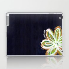 Navy and Gold Flower Laptop & iPad Skin