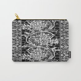 Vintage Lace Black and White Carry-All Pouch