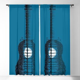 Trees sea and the moon turned guitar Blackout Curtain