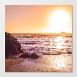 Northern California Beach Sunset Canvas Print