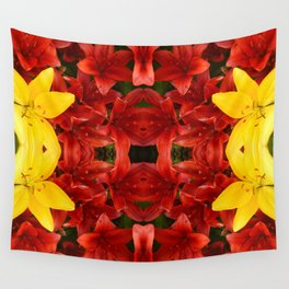 """""""A Gathering of Lilies"""" Remix - 1 (1-1) [D4465~12] Wall Tapestry"""