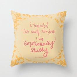 Emotionally Slutty - Carrie Bradshaw Throw Pillow
