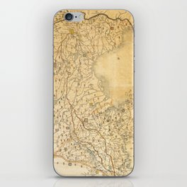 Map of Zhili and Shandong, China (c1855-1870) iPhone Skin