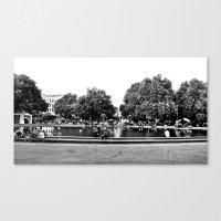 vienna Canvas Prints featuring Vienna by Med Threads