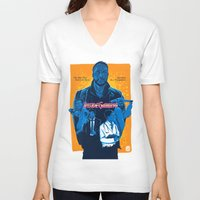 inside gaming V-neck T-shirts featuring Inside Gaming: When Ebola Strikes by Haizeel Hashnan