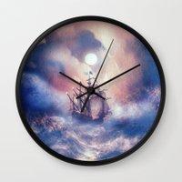 storm Wall Clocks featuring Perfect storm.  by Viviana Gonzalez