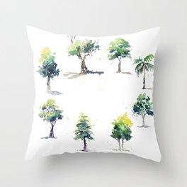 Circle of Life Trees Throw Pillow