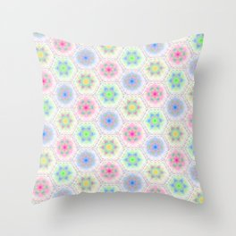 Whipped Cream in Sherbert Colors Throw Pillow