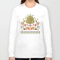 wild things Long Sleeve T-shirts featuring Woodland Wild Things by Angie Spurgeon