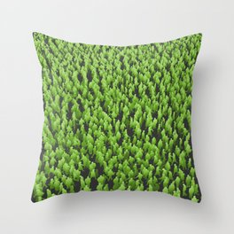 Like Blades of Grass / Large crowd of people illustration Throw Pillow