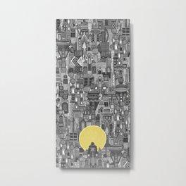 space city sun bw Metal Print