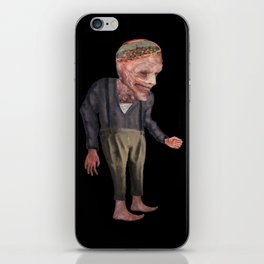 the man with candy iPhone Skin