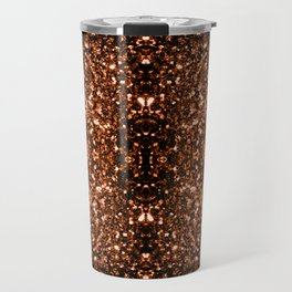 Beautiful Bronze Orange Brown glitters sparkles Travel Mug