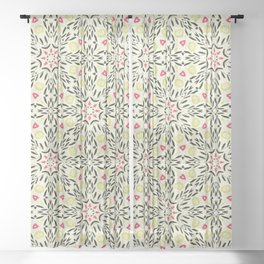 Willow Sketch Geometric Pattern Sheer Curtain