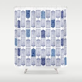 Tardis Tardis Tardis Shower Curtain