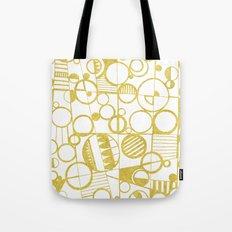 Golden Doodle circles Tote Bag