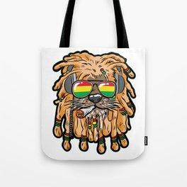 RASTA LION Joint Smoking Weed 420 Ganja Pot Hash Tote Bag