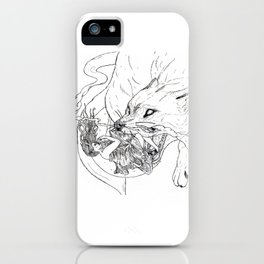 Sun Goddess chased by the wolf iPhone Case