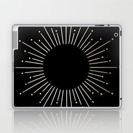 Sunburst White Gold Sands on Black Laptop & iPad Skin
