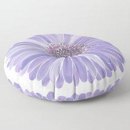 Purple Daisy Print Floor Pillow