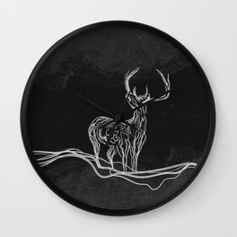 Mountain (Closer Than You Know) Black & White Wall Clock