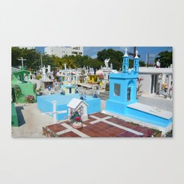 mexican cemetary Canvas Print