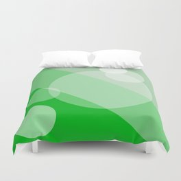 Five Spheres Abstract - Green Duvet Cover