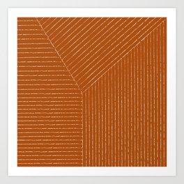 Lines (Rust) Kunstdrucke