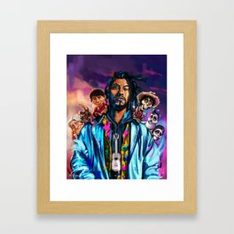 Miguel and Coco Painting Framed Art Print
