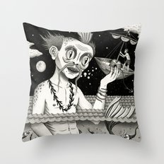 Hijacking on the High Sea Throw Pillow