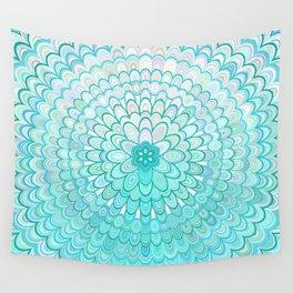 Ice Flower Mandala Wall Tapestry