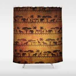 African Animal Pattern Shower Curtain