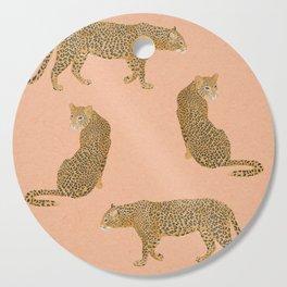 sunset leopards Cutting Board