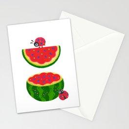 Watermelon&ladybug Stationery Cards