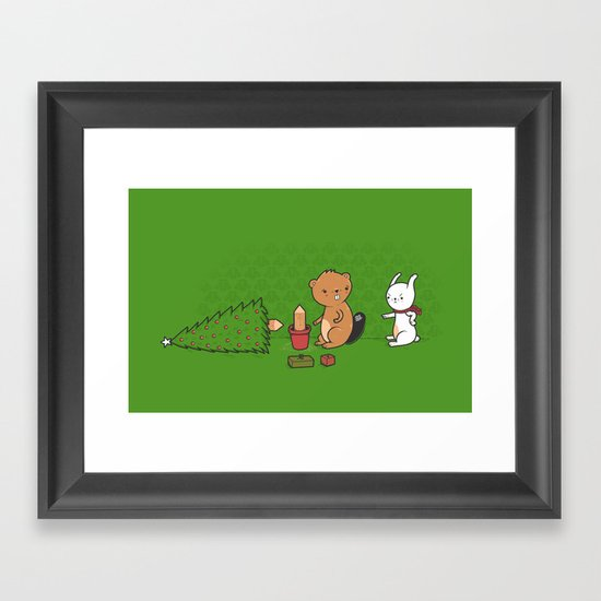 Beavers ruin Christmas Framed Art Print