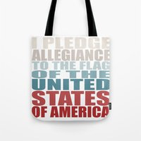america Tote Bags featuring America by Jason Michael