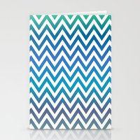 chevron Stationery Cards featuring Chevron by David Zydd