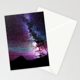 Milky Way Landscape Deep Purple Blue Teal Stationery Cards