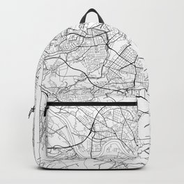 Dresden Map White Backpack
