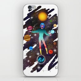 By the power of truth as long as I live, I will have conquered the universum iPhone Skin