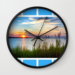 The Savannah River As The Sun Rises Wall Clock