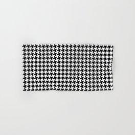 Monochrome Black & White Houndstooth Hand & Bath Towel