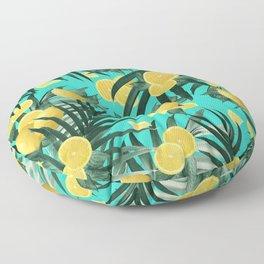Summer Lemon Twist Jungle #1 #tropical #decor #art #society6 Floor Pillow