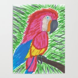 Pink Bird of Paradise Poster