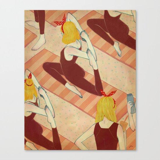 yoga girls Canvas Print