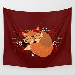 Renarde de Noël Wall Tapestry