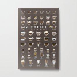 Coffee Chart Metal Print