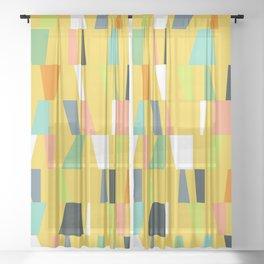 Modern Geometric 39 Sheer Curtain