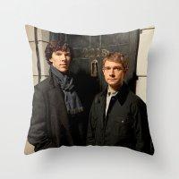 johnlock Throw Pillows featuring Johnlock by Amélie Store